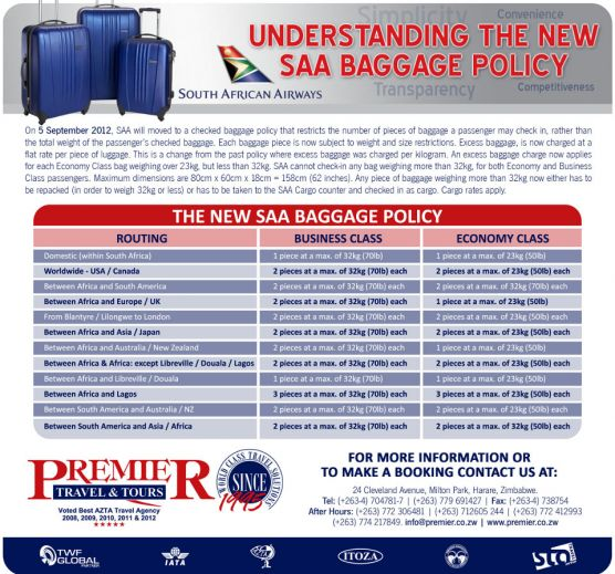 SAA New Baggage Policy Newsletter